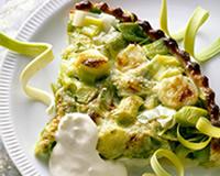 Vue sur : http://www.cuisineaz.com/recettes/tarte-aux-poireaux-et-au-parmesan-rape-6268.aspx