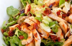 Vue sur : http://www.idee-salade.com/recettes-de-salade/salade-aux-blancs-de-dinde-grilles-et-tomates-sechees